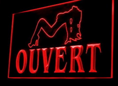 Sexy lady ouvert LED Neon Sign