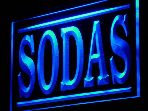 Sodas Supply Drink Shop Adv neon Light Sign