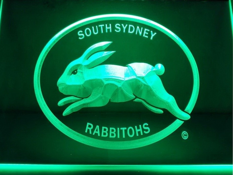 South Sydney Rabbitohs LED Neon Flag Sign Large NRL