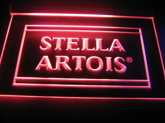 Stella Artois Logo Beer Bar Pub Store Neon Light