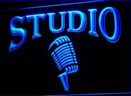 Studio On The Air Microphone Bar Neon Light Sign