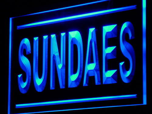Sundaes Supply Shop Display neon Light Sign
