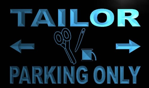 Tailor Parking Only Neon Light Sign