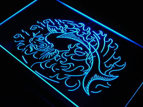 Tattoo Koi Fish Japanese Style Neon Light Sign