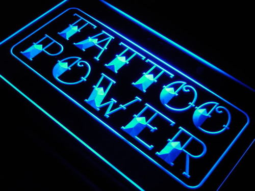 Tattoo Power Shop Display Decor Neon Light Sign