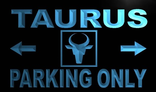 Taurus Parking Only Neon Light Sign