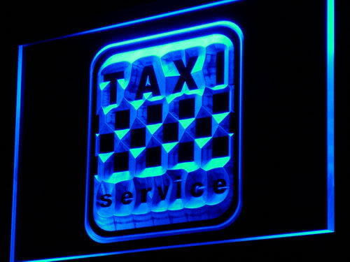 Taxi Service Cab Display Lure Neon Light Sign