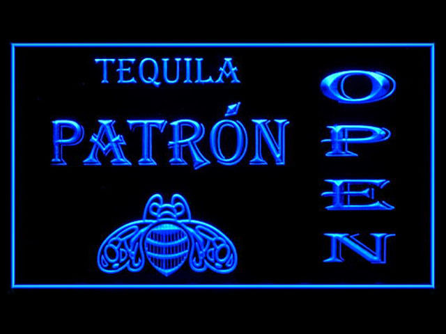 Tequila Patron OPEN Neon Light Sign