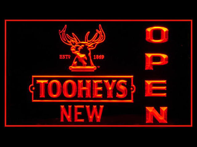 Tooheys New Pub Beer OPEN Light Sign