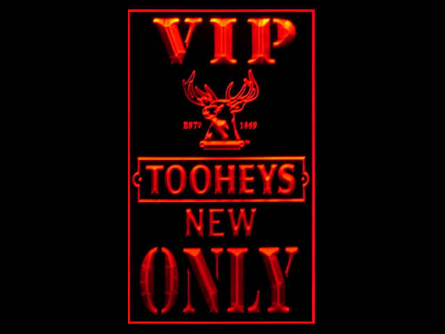 Tooheys New VIP Only Pub Store Tall Light Sign