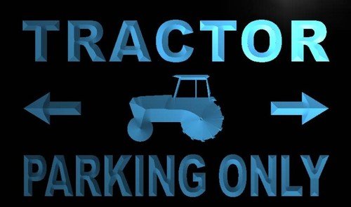 Tractor Parking Only Neon Light Sign