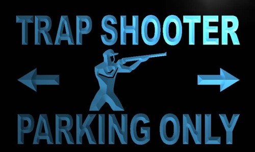 Trap Shooter Parking Only Neon Light Sign