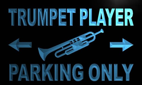 Trumpet Player Parking Only Neon Light Sign