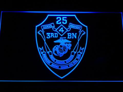 US Marine Corps 3rd Battalion 25th Marines LED Neon Sign