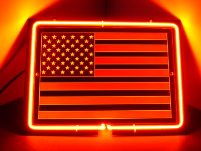 USA Flag Stars & Stripes Red Neon Bar Mancave Sign