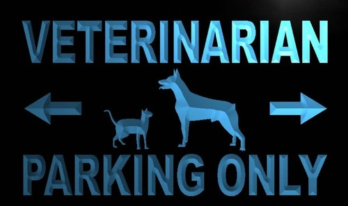 Veterinarian Parking Only Neon Light Sign