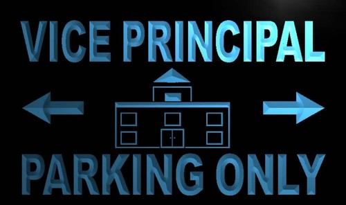 Vice Principal Parking Only Neon Light Sign