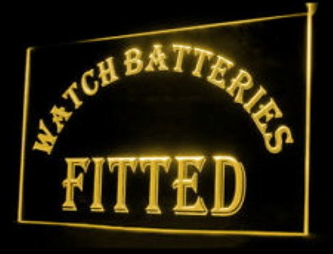 Watch Batteries Fitted LED Neon Sign
