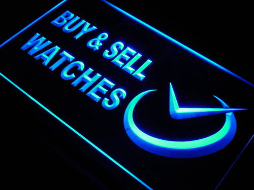 Watches Buy & Sell Shop Time Neon Light Sign