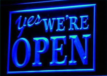 YES We're Open Shop Cafe Restaurant Light Sign