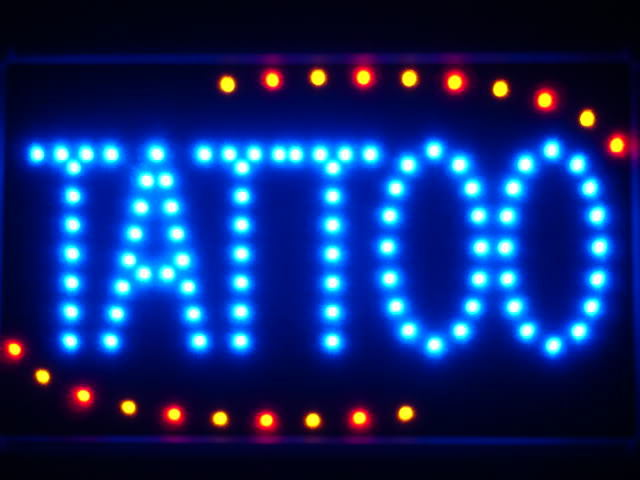Tattoo Shop OPEN LED Business Neon Light Sign