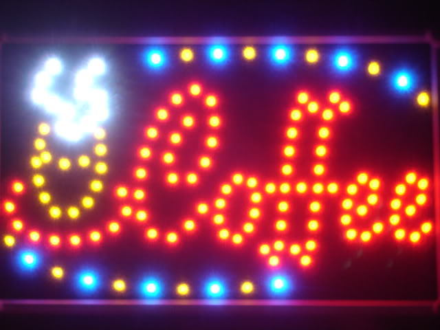 Coffee Cafe Shop LED Business Neon Light Sign