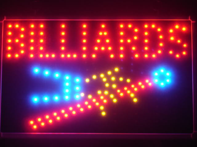 Billiards Pool LED Business Neon Light Sign