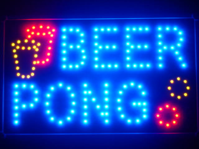 Beer Pong Bar Pub LED Business Neon Light Sign