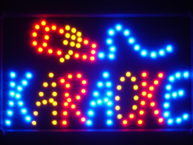 Karaoke LED Neon Light Sign with Whiteboard