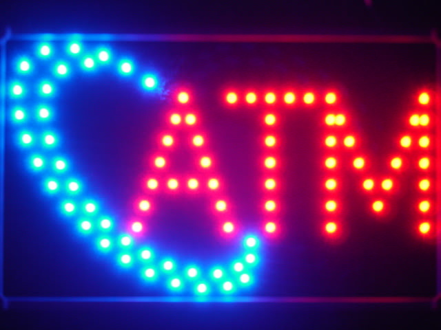 ATM LED Neon Light Sign with Whiteboard