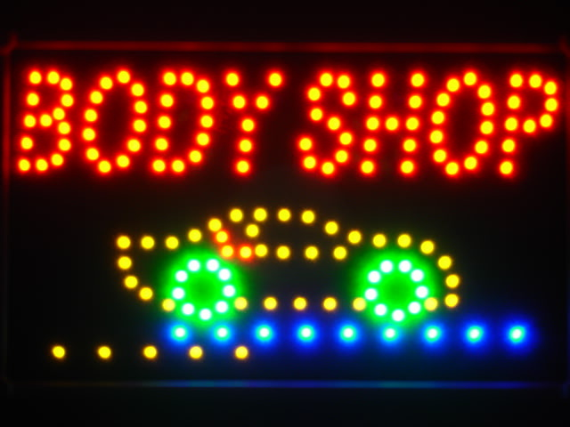 Body Shop Car LED Neon Light Sign