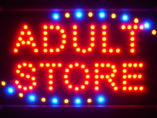 Adult Store Shop Neon Light Sign WhiteBoard