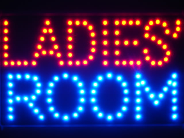 Ladies' Room Female Toilet Led Neon Sign