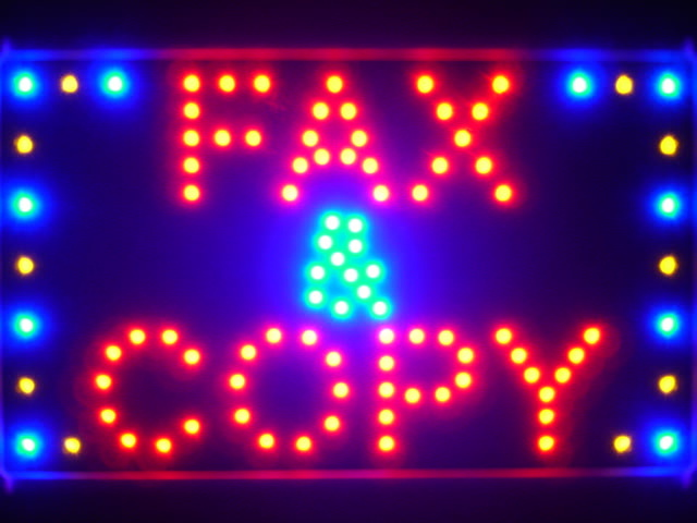 Fax & Copy Services Led Neon Sign WhiteBoard