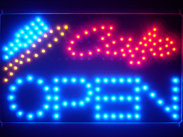 Cafe OPEN Bar Beer Led Neon Sign WhiteBoard