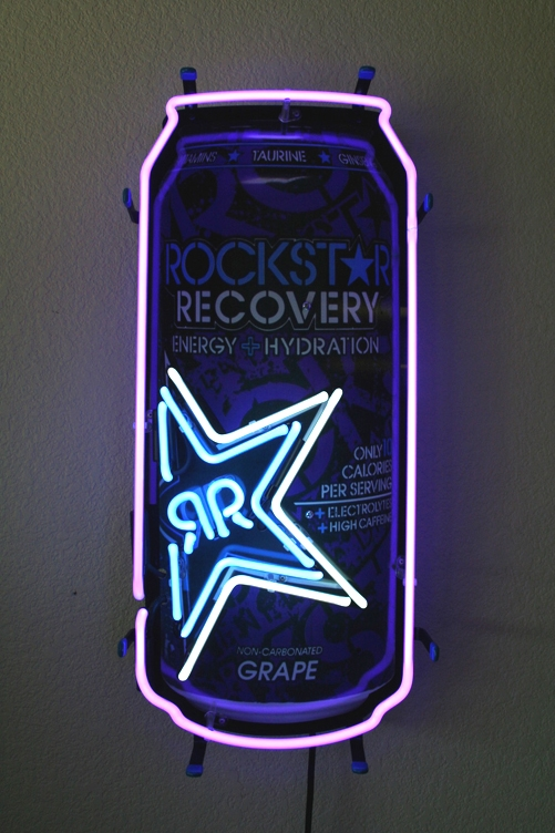 Rockstar Energy Drink Soda Can Neon Light Sign 22x11