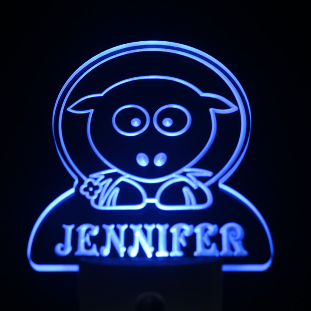 Sheep Personalized Day Night Sensor LED Night Light Blue