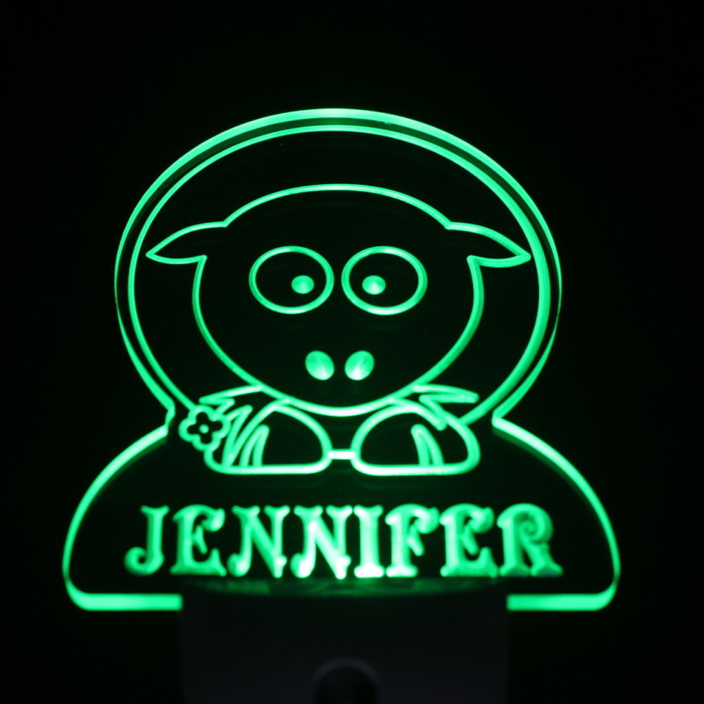 Sheep Personalized Day Night Sensor LED Night Light Green