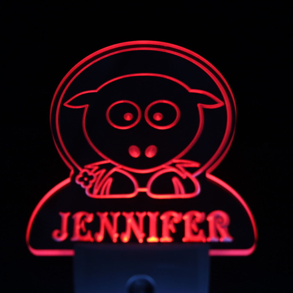 Sheep Personalized Day Night Sensor LED Night Light Red