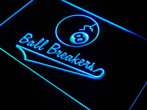 8 Ball Breakers LED Neon Sign