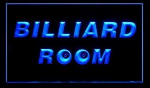 8 ball Billiard Room LED Neon Sign
