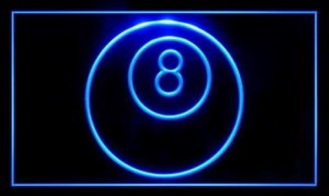 8 ball Billiards Snooker Play Now LED Neon Sign