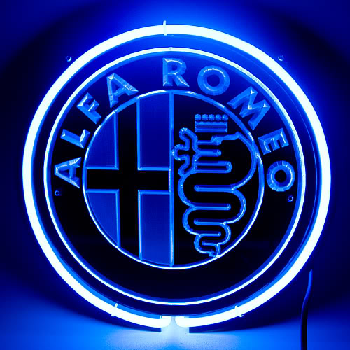 ALFA Romeo Logo Blue Neon Sign