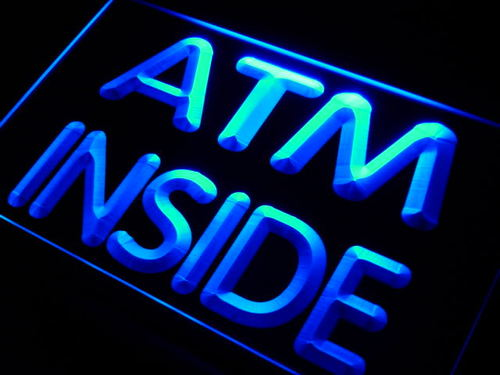 ATM Inside Display Neon Light Sign