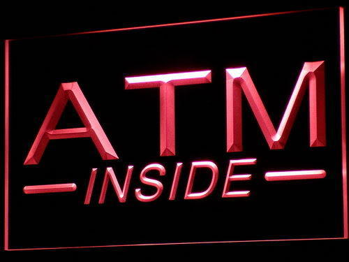 ATM Inside LED Light Sign