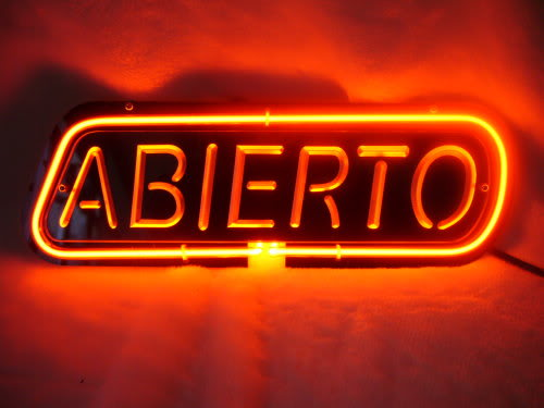 Abierto Red Neon Sign