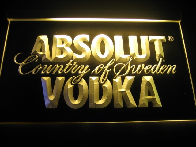 Absolut Vodka Logo Neon Sign