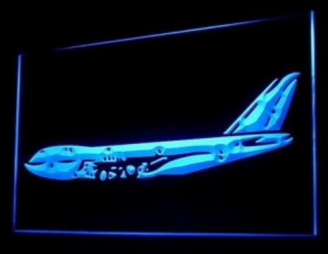 Aeroplane Airbus LED Neon Sign