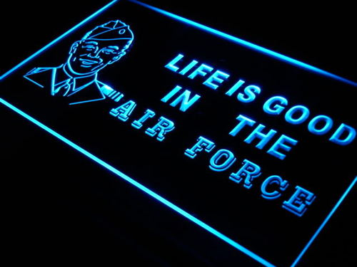 Air Force Life is Good Bar Beer Neon Light Sign