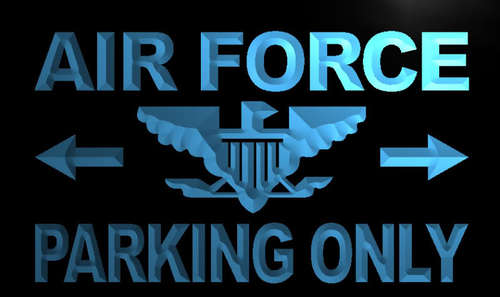 Air Force Parking Only Neon Light Sign